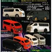 日本 迷你 HIACE 200系 車仔 模型 擺設 ( 4款裝 )