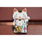 日本 木製 招財貓 磁石貼