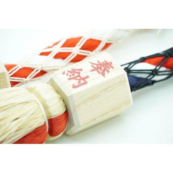 日本 神社用搖繩紅白繩汽車掛飾交通安全