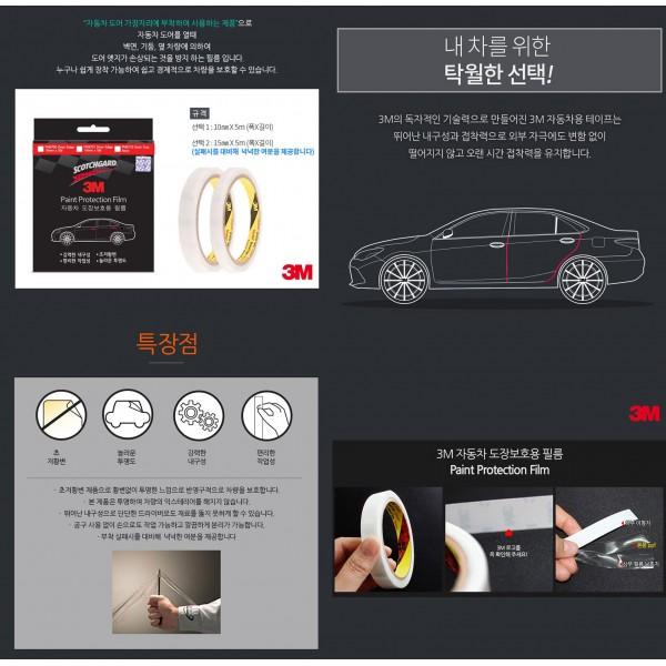 日本製 3M 汽車用車門邊防撞防花貼紙保護貼 透明 PPF
