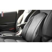 韓國製造 AUTOBAN 汽車用皮質米色黑色腰墊腰枕護腰