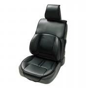 日本 BONFORM 汽車用超舒適豪華皮質護腰座椅套