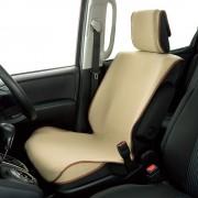 日本 BONFORM 汽車用米色坐墊椅套防污墊寵物墊