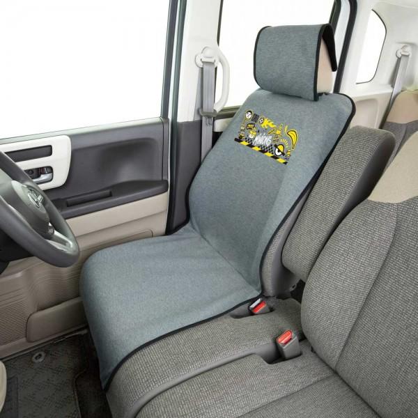 日本 BONFORM 汽車用 MINION 小黃人 汽車用超舒適坐墊座椅套