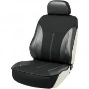 日本 BONFORM 汽車用半包座椅套黑色單座司機位乘客位