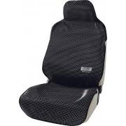 日本 BONFORM 汽車內黑色班點單座防污墊寵物墊椅套