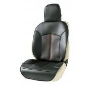 日本 BONFORM 汽車用豪華皮質紅黑座椅套