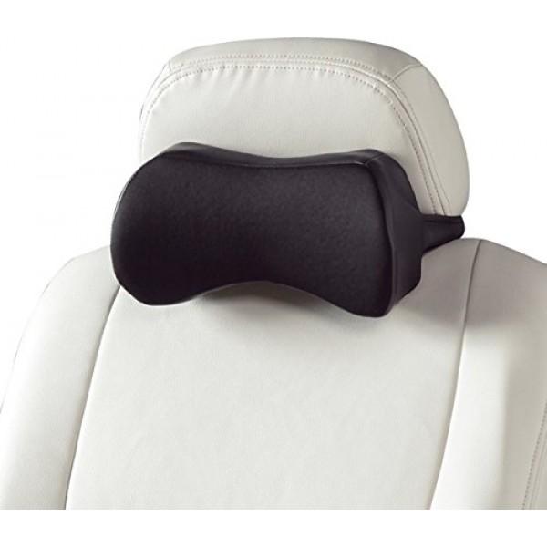 日本 BONFORM 汽車用皮質透氣頸枕頭枕