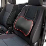 日本 BONFORM 汽車用皮質立體成型腰枕腰墊