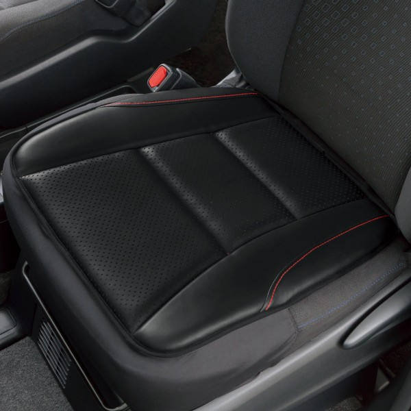日本 BONFORM 汽車用透氣皮質半包坐墊座墊