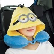 日本 BONFORM 汽車用MINION 小黃人 汽車用頭型公仔頸抌帽子