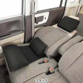 日本 BONFORM 汽車用 車中泊 頭枕頸枕腰枕腰墊坐墊座墊休息睡枕 ( 3件套裝 )