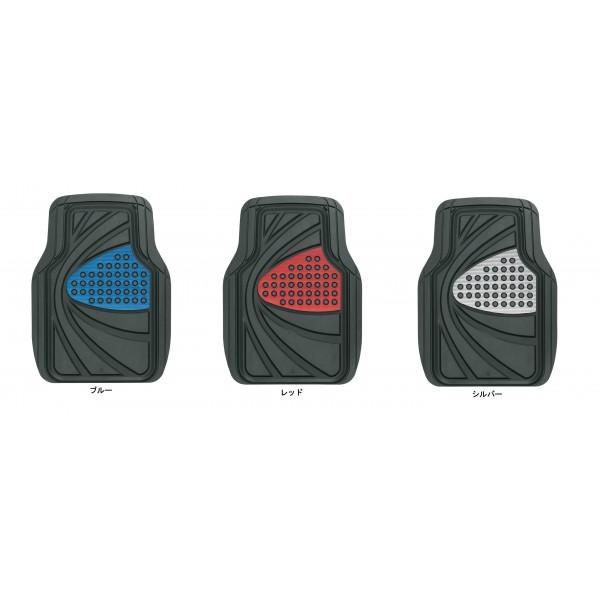 日本 BONFORM 汽車用車內金屬色防水防污前座地膠 (藍色 / 銀色 / 紅色)