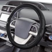 日本 BONFORM 汽車用碳纖紋立體握手皮質軚環套軚盤套 ( 抗菌加工 )