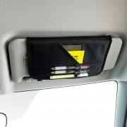 日本 BONFORM 汽車用太陽擋板收納袋筆袋筆記薄咭片套雜物袋