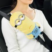 日本 BONFORM MINION 小黃人 汽車用公仔安全帶套