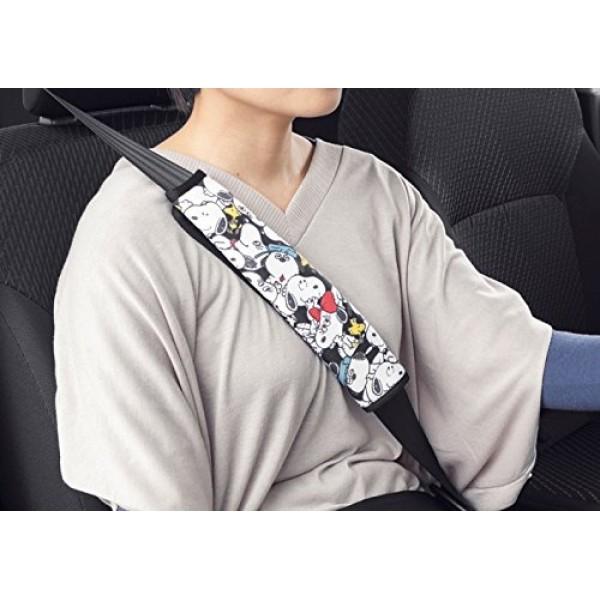 日本 BONFORM 汽車用 SNOOPY 史露比安全帶套多表情款式