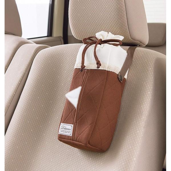 日本 BONFORM 汽車用啡色花邊紙巾袋