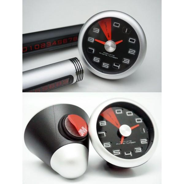 韓國製 CAREX 儀表時鐘造型如有阻塞電話號碼顯示牌