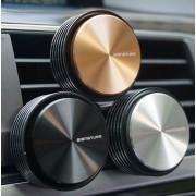 韓國 CAREX 汽車用豪華鋁質圓形電鍍香水