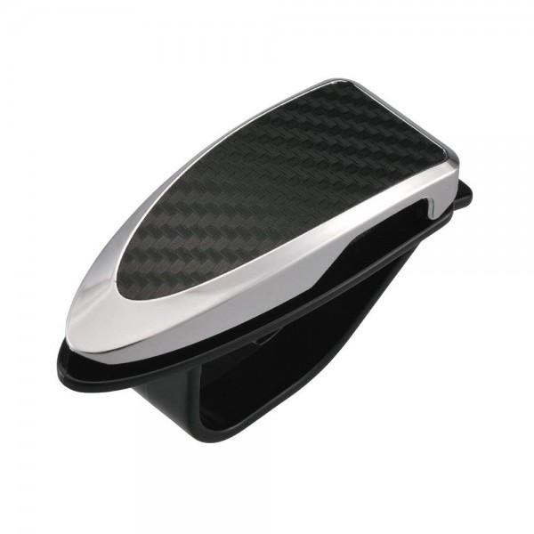 日本 CARMATE 汽車用碳纖紋太陽擋專用眼鏡夾咭片夾