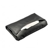日本 CARMATE 汽車用碳纖紋薄身紙巾袋紙巾套