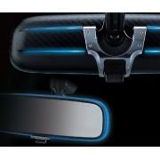 日本 CARMATE 汽車用車內倒後鏡裝飾藍光藍邊LED發光