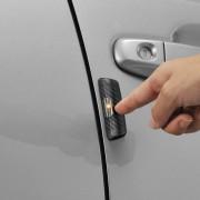 日本 CARMATE 汽車用碳纖紋車身發光除靜電消靜電貼車門防撞條