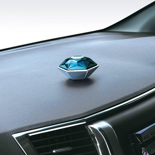 日本 CARMATE 汽車用藍色鑽石型香水座