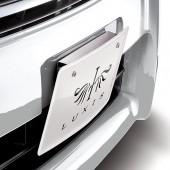 日本 CARMATE 汽車用銹鋼金屬車牌架