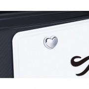 日本 CARMATE 汽車用心型電鍍車牌鏍絲