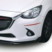 日本 CARMATE 汽車用倒後鏡倒鏡專用紅色防撞貼 (長)