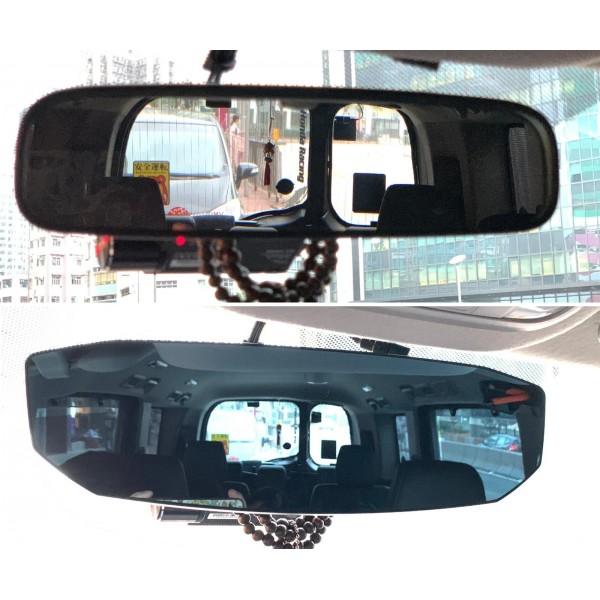 日本 CARMATE 汽車用黑邊鑽石型藍色倒後鏡加闊鏡盲點鏡
