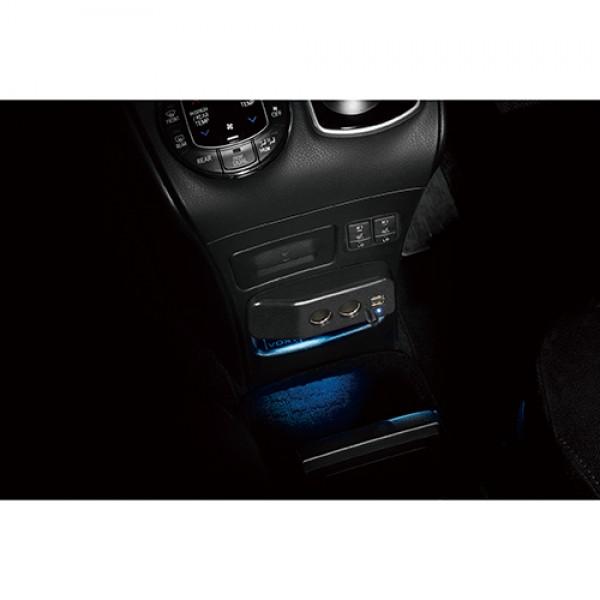 日本 CARMATE 豐田 NOAH / VOXY / ESQUIRE 80系 專用一拖二 USB 分插