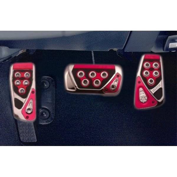 日本 CARMATE 汽車用自動波車RAZO GT 紅黑專用碳纖腳踏板