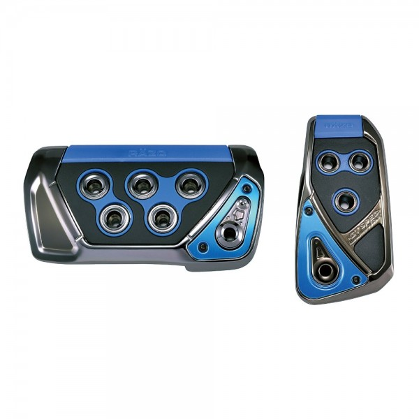 日本 CARMATE RAZO GT 汽車用自動波車專用藍黑色電鍍腳踏板