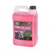 美國 3D PINK CAR SOAP 粉紅洗車液 3.78升 1加侖 (鍍膜車可以使用)