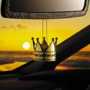 日本 DAD 汽車用金色皇冠香水香薰香座擺設倒後鏡掛飾 ( 設有補充裝 )