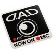 日本製 DAD 汽車用車貼紙車身貼車CAM 錄影中 NOW ON REC 方型貼