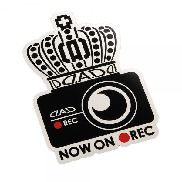 日本 DAD 汽車用車貼紙車身貼皇冠車CAM 錄影中 NOW ON REC