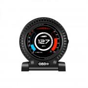 HUD F10 OBD2 汽車用抬頭顯示器車速轉數水溫電壓