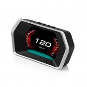 HUD P17 OBD2 GPS 汽車用抬頭顯示器車速轉數水溫電壓