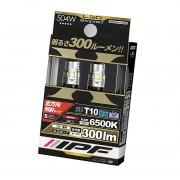 日本 IPF 12V 汽車用 T10 LED 白光 6500K 細燈 房燈 尾牌燈 倒車燈 300流明 (一對裝)