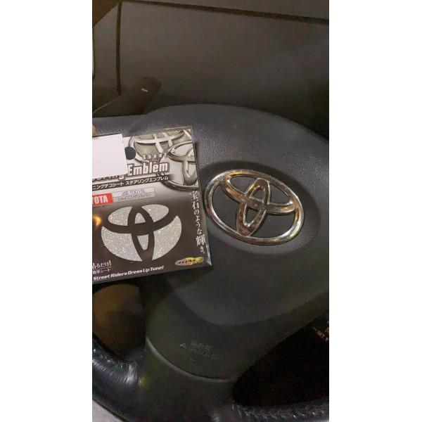 日本 JDM TOYOTA 豐田 汽車用軚環軚盤章車章閃粉