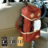 日本 汽車用車中泊座椅背頭枕紙巾袋紙巾盒收納書包款背囊款露營用 ( 4色可選 )