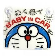 日本 叮噹 汽車用 BABY IN CAR 吸塑掛牌
