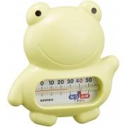 日本製 嬰兒用 測水溫 溫度計 可浮面 青蛙款 浴缸用 沖涼用 0℃~50℃