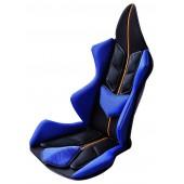 日本製 GT 汽車用賽車款舒適座椅套 ( 藍黑款 )