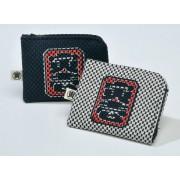 日本製 日本風格和式傳統多用途錢包咭片包散銀包