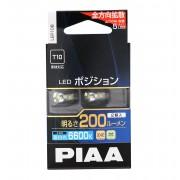 日本 PIAA 12V汽車T10房燈細粒牌燈LED 6600K